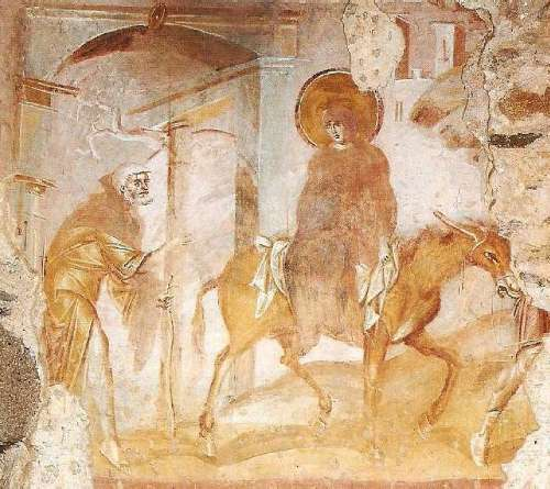 Marie et Joseph à Bethléem dans images sacrée momenti49a
